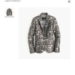 J CREW CAMPBELL BLAZER IN FEATHER PRINT.  SIZE 4